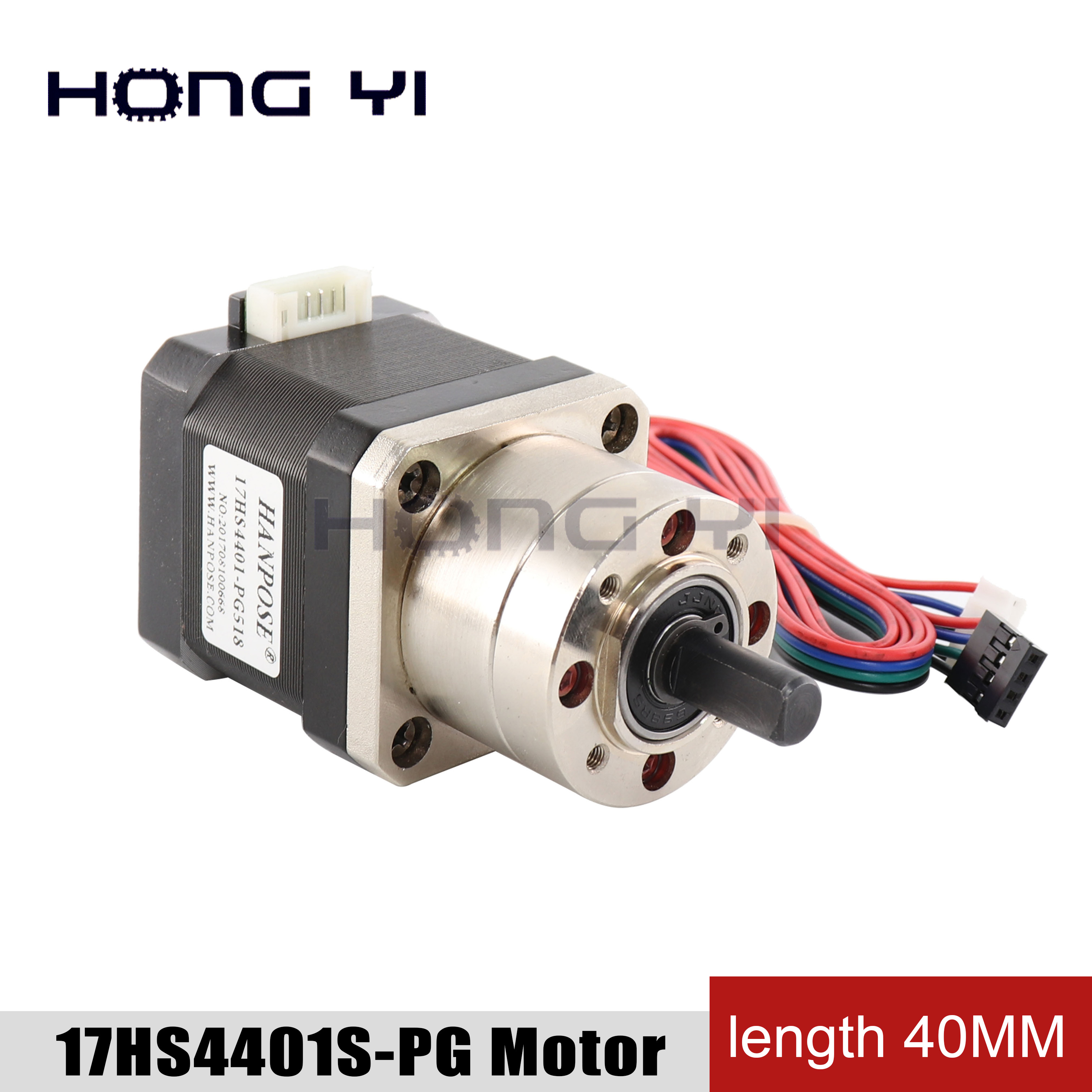 Free shipping 4-lead <font><b>Nema17</b></font> Stepper Motor 17HS4401S-PG5.18 <font><b>Gear</b></font> Stepper Motor Ratio Planetary Gearbox Nema 17 Step Motor image