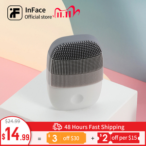 Image 1 - Inface Electric Sonic Facial Cleansing Brush Vibration Face Cleaner IPX7 Waterproof Rechargeable Massage Facial Brush
