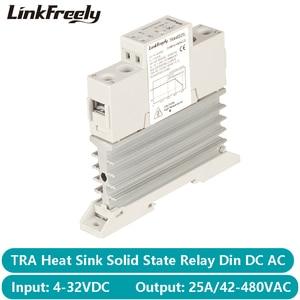 Image 1 - TRA48D25L 25A Photoresistor חום כיור SSR מצב מוצק ממסר מסילת Din DC AC 5V 12V 24V 32VDC קלט 42 480VAC פלט כוח ממסר