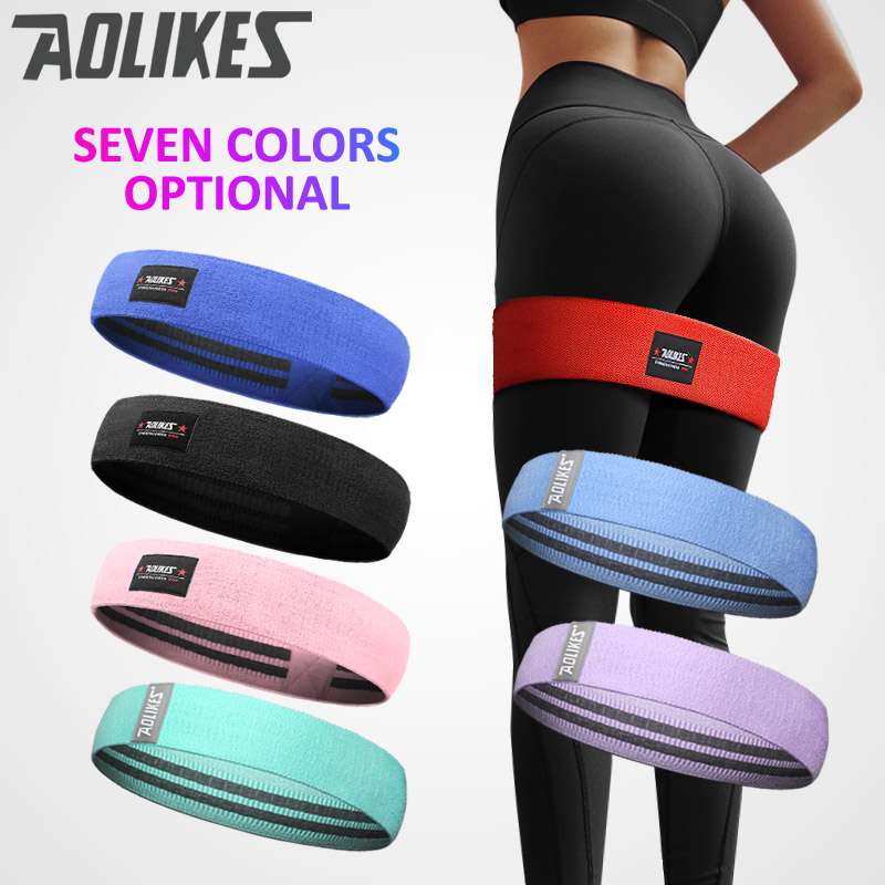 Aolikes Resistance Loop Bands Hip Fitness Band Thighs Arm For Expander Training Yoga Pilates Workout Home Gym Equipment image