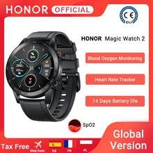 Em estoque versão global honra relógio mágico 2 relógio inteligente bluetooth 5.1 smartwatch oxigênio no sangue 14 dias à prova dwaterproof água magicwatch 2 code: 328TUDO8 $80-8
