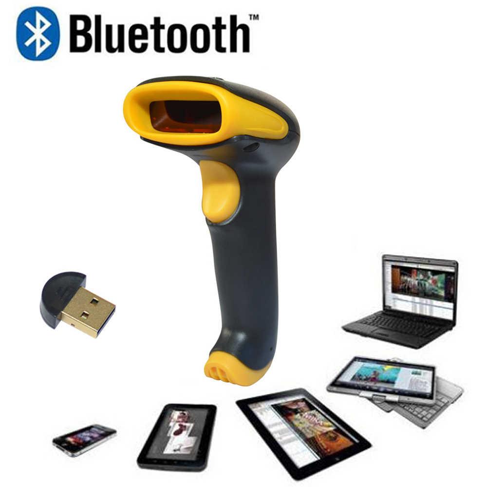 2,4 г беспроводной лазерный сканер штрих-кодов беспроводной Bluetooth 1D сканер штрих-кодов считыватель КПК сканер штрих-кодов сканер документов