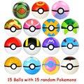 Действие 15 шт./компл. Pokemon шары со случайными статуэтки коллекционные игрушки для детей, мини-жемчуг Сквиртл Пикачу фигурки Pokeballs