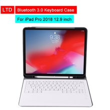 Bluetooth 3.0 Tablet Keyboard Case For iPad Pro 2018 12.9 inch Mediapad PU Flip Leather Protective Cover For Apple iPad Holder стоимость