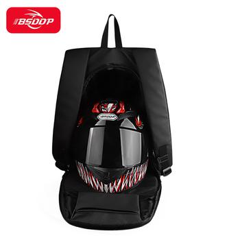 BSDDP kask motocyklowy plecak wodoodporny pokrowiec przeciwdeszczowy z pasek odblaskowy regulowany pasek Anti klamra tanie i dobre opinie CN (pochodzenie) 35cmcm polyester Torby na kask 627g 25cmcm helmet backpack inch 3cmcm 36-55L