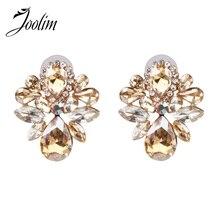 Joolim Trendy Glass Flower Stud Earring Party