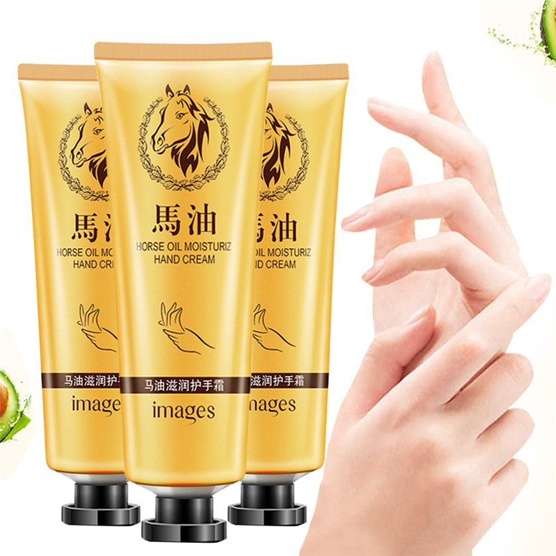Hot Fashion Horse Oil Repair Hand Cream Anti-Aging Soft Hand Refreshing Whitening Moisturizing Hand Cream Suitable Non-greasy