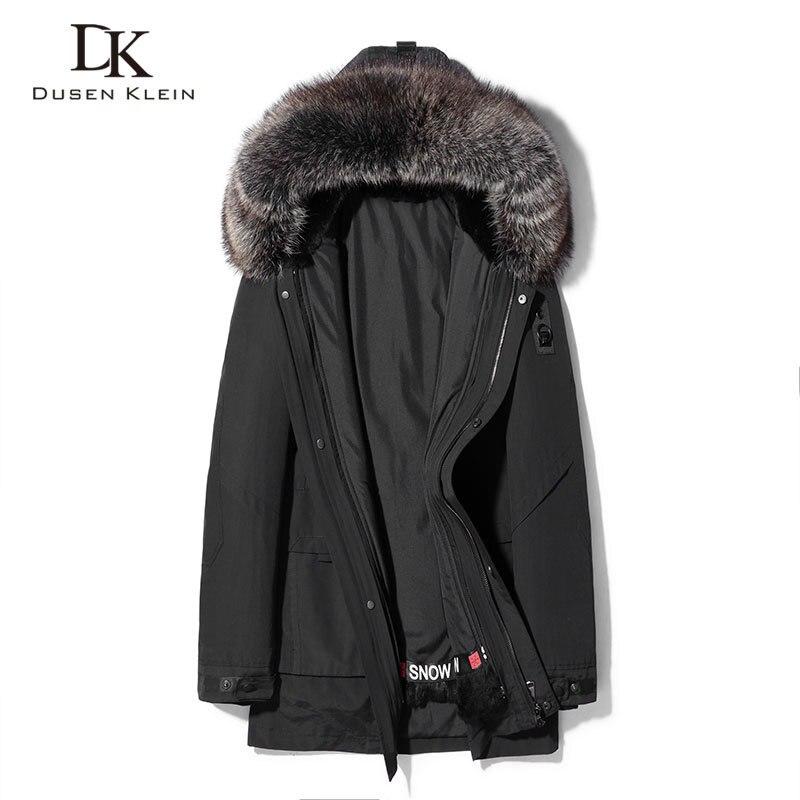 Men Winter Coat Warm Jackets Thick Outerwear Windproof+Rabbit Fur Lining+Raccoon Fur Collar 2020 New Hooded Jacket P19089-B