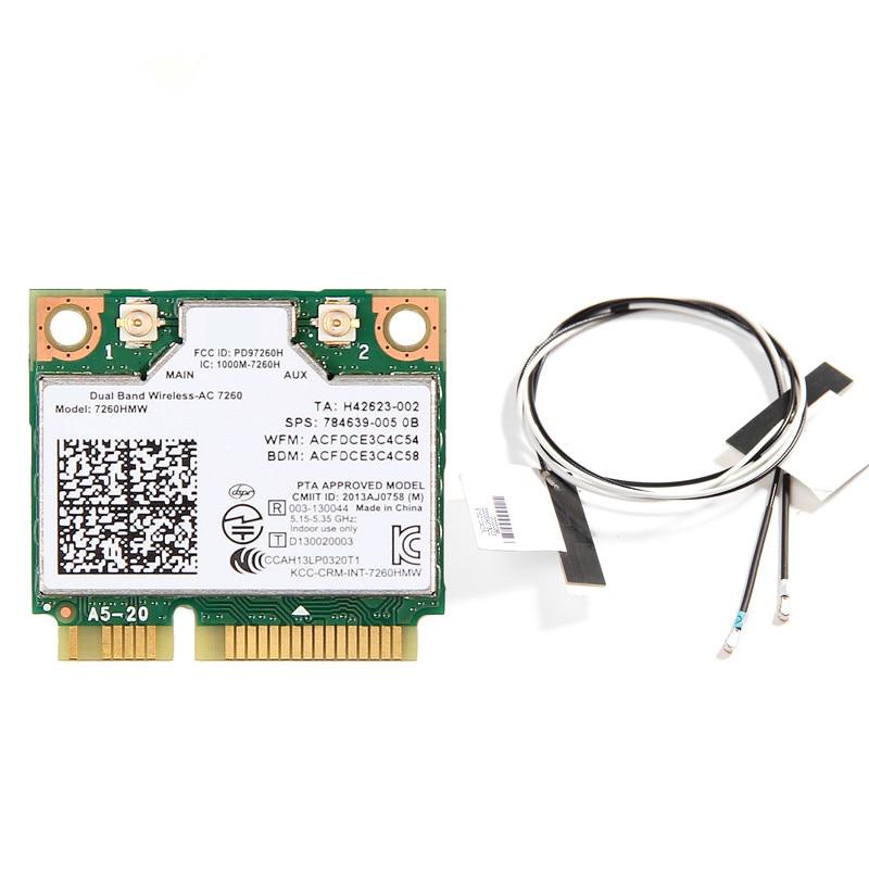Dual Band 1200Mbps 802.11ac 7260HMW 7260AC 2.4G/5G Wlan Wi-Fi Bluetooth 4.0 Mini PCIe WiFi Wireless Network PCIe Card