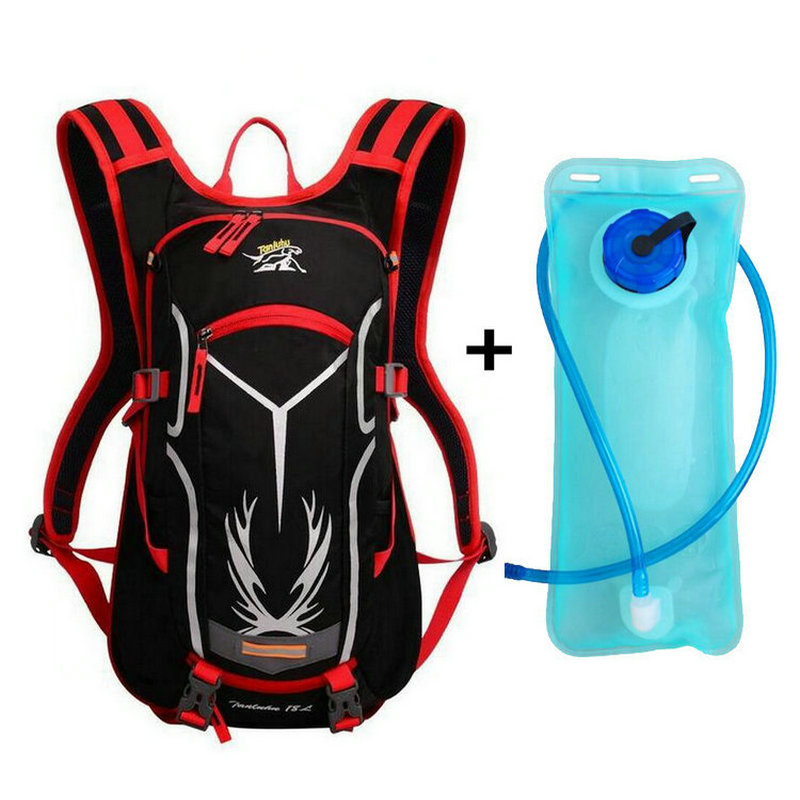 6 Color Bike Hydration Nylon Waterproof 15L Cycling Backpack +2L Water Bags Breathable Large Capacity Mountain Bike Backpack (1)_
