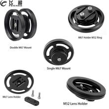 Diving Lens Carrier M52 M67 Adapter Holder Mount 52 67mm for Canon RX100 TG5 TG4 SLR Camera Case Underwater Float Arm Extension