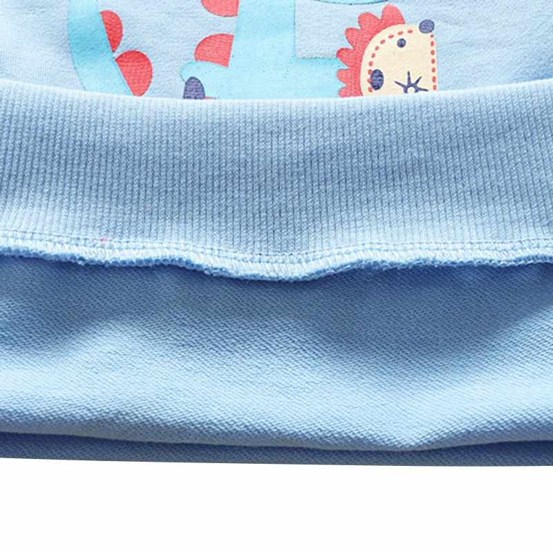 Moda Autunno BabyKids Dinosauro Del Cartone Animato Felpe Per Bambini \ \ \ \ \'s Blu Felpe del Ragazzo e Della Ragazza Vestiti 0-3T