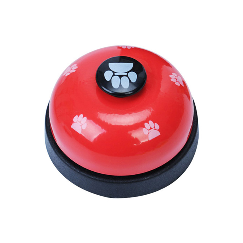 1pc 6 Colors Pet Dog Training Bell Meal Paw Print Dining Feeding Call Puppy For Potty Training Interactive Communication Tools-3