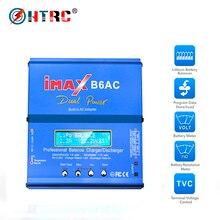 HTRC RC зарядное устройство 80 Вт iMAX B6AC 6A, двухканальный B6 AC Li-Ion Nimh Nicd Lipo аккумулятор, цифровой ЖК-экран, зарядное устройство