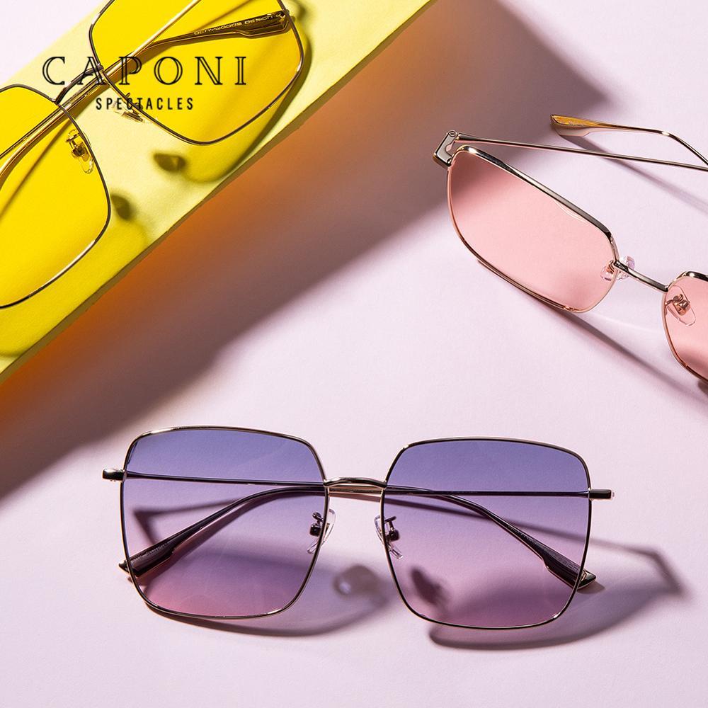 Женские квадратные солнцезащитные очки CAPONI, Модные Винтажные разноцветные линзы, женские солнцезащитные очки 2020, новые трендовые очки CP2108|Женские солнцезащитные очки|   | АлиЭкспресс