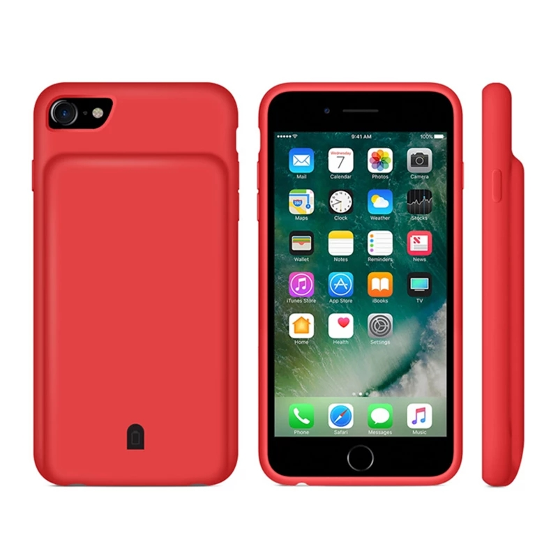 External <font><b>Battery</b></font> Charger <font><b>Case</b></font> For <font><b>iPhone</b></font> 7 8 Plus <font><b>6</b></font> 6S Plus Portable Backup Power <font><b>Bank</b></font> <font><b>Case</b></font> For <font><b>iPhone</b></font> 8 7 <font><b>6</b></font> 6S <font><b>Battery</b></font> <font><b>Case</b></font> image