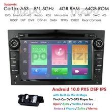 Octa Core IPS DSP 2 Din Android 10 Car DVD Player For Opel Vectra C Zafira B Corsa D C Astra H G J Meriva Vivaro GPS Radio