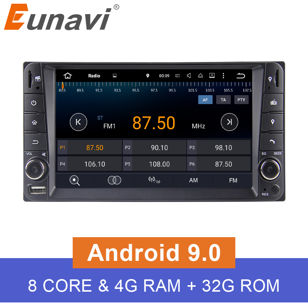 Eunavi 7 Android 9 0 2 DIN Car GPS for Toyota Terios Old Corolla Camry Prado