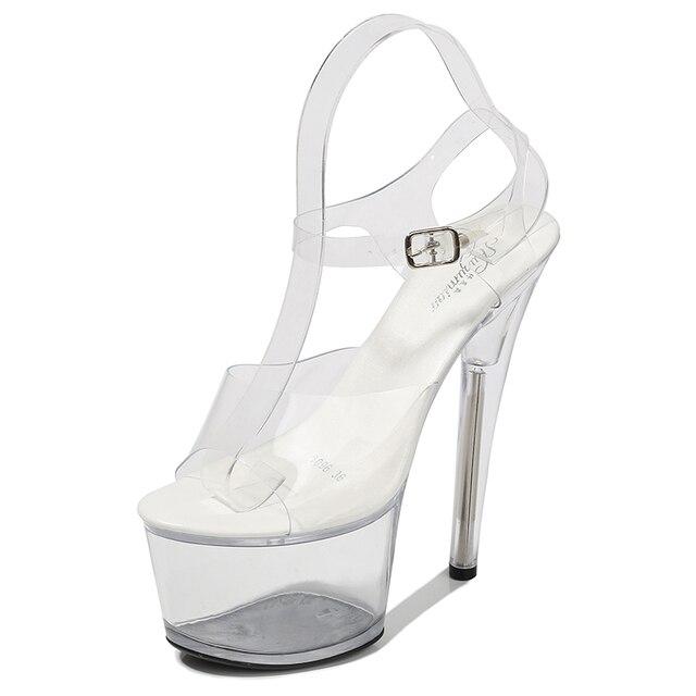 Clear Platform Stripper Heels 6