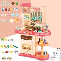 Baby Shining 40pcs Keuken Speelgoed Set Meisjes Speelgoed Keukengerei Simulatie Koken Speelgoed Set 76 CM/30IN Ouder- kind Kids Keuken Gift