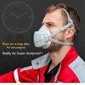 Maschera di polvere + 10PC di carbone attivo filtro ripetibile core settore lavorazione del legno FAI DA TE di saldatura industriale della polvere maschera