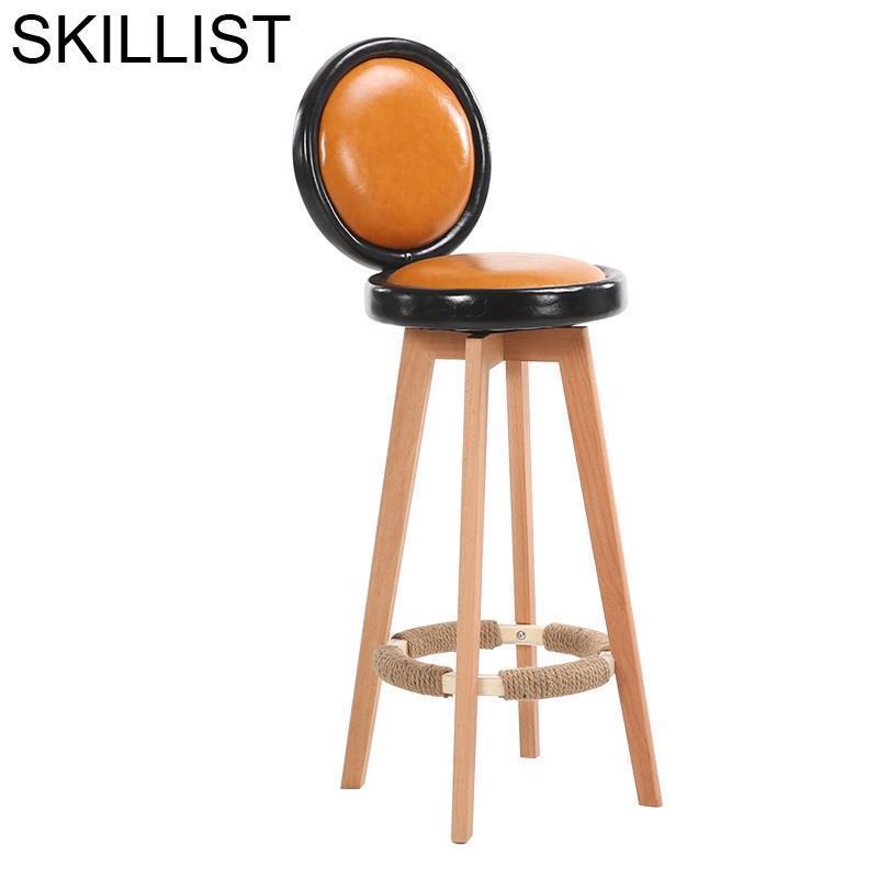 Hokery Comptoir Taburete Sandalyesi Bancos Moderno Banqueta Todos Tipos Leather Silla Tabouret De Moderne Cadeira Bar Chair