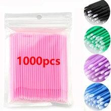 1000pcs Disposable Eyelash Extension Tools Makeup Eyelashes Brushes Micro Mascara Brush Applicators Mascara Brush Cotton Swab