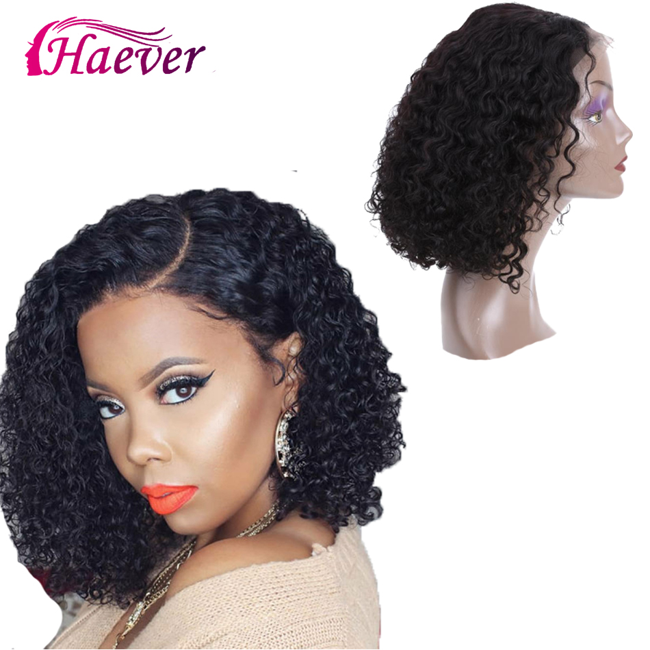 Brazilian Kinky Curly Short Bob Wig 13X4 Lace Front Human Hair Wigs New Hair Wig Pre Plucked With Baby Hair Lace Closure Wig