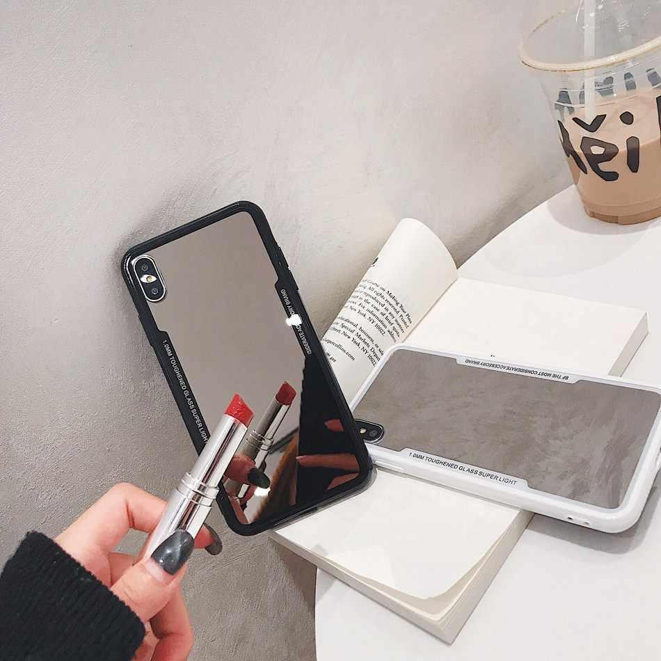 Для iPhone 7 6 6s 5 8 Plus роскошный зеркальный чехол для телефона милый 3D Devil Horn чехол Coque для iPhone X XS Max XR жесткий акриловый чехол