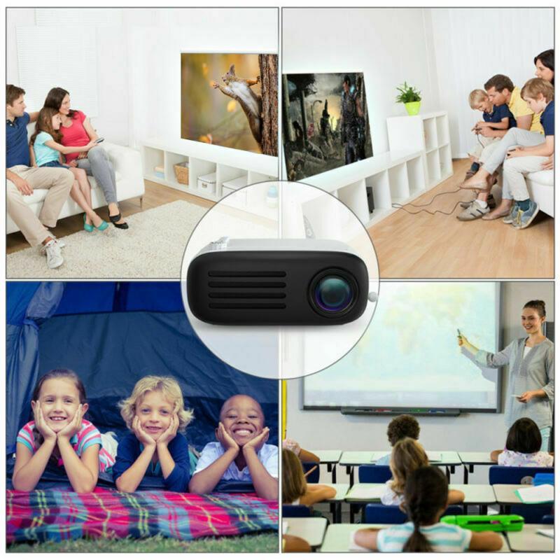 1080p led mini projetor para smartphone de cinema em casa telefone celular completo projetor hd projetor dia das bruxas para projetores móveis-4