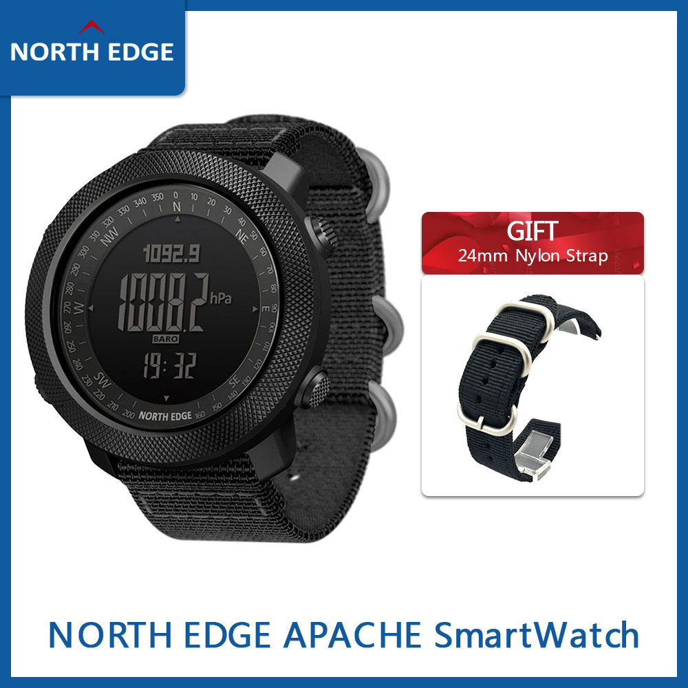 Gift Strap North EDGE APACHE 3 Smart Watch Men Sports Digital Smartwatch Atmospheric Altimeter Barometer Compass Army Waterproof