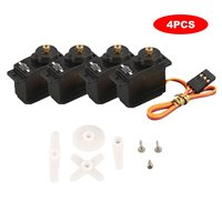 4 pcs High quality JX PDI 1109MG Metal Gear Digital Servo 9g Servo with 2.5kg Torque suitable for 1/18 RC car, airplane or robot