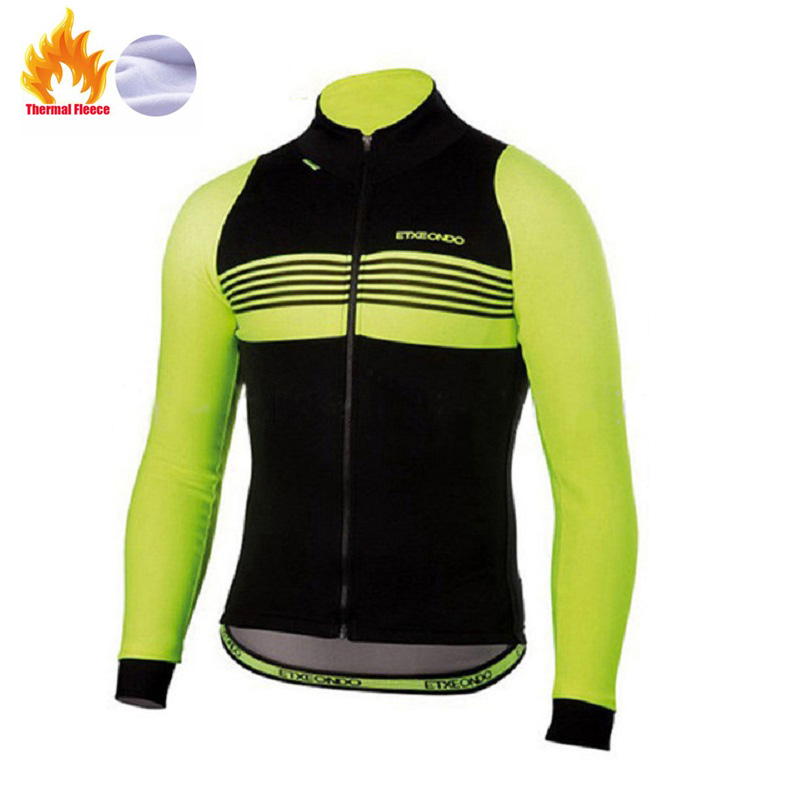 2019 Long Etxeondo sleeve Thermal Fleece cycling jersey Racing winter Pro team Cycling Clothing Maillot Ropa Ciclismo Hombre