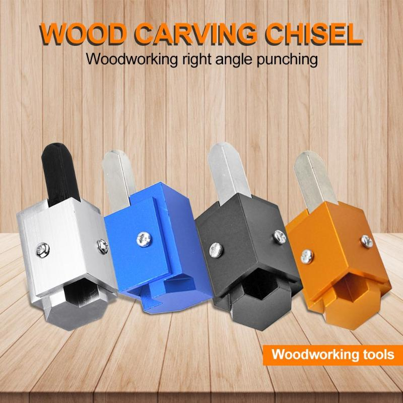 Square Mortising Quick Cutting Corner Angle Chisel Hinge Recesses Blade Sharp Automatic Alignment Wood Chisel 80x30x30mm