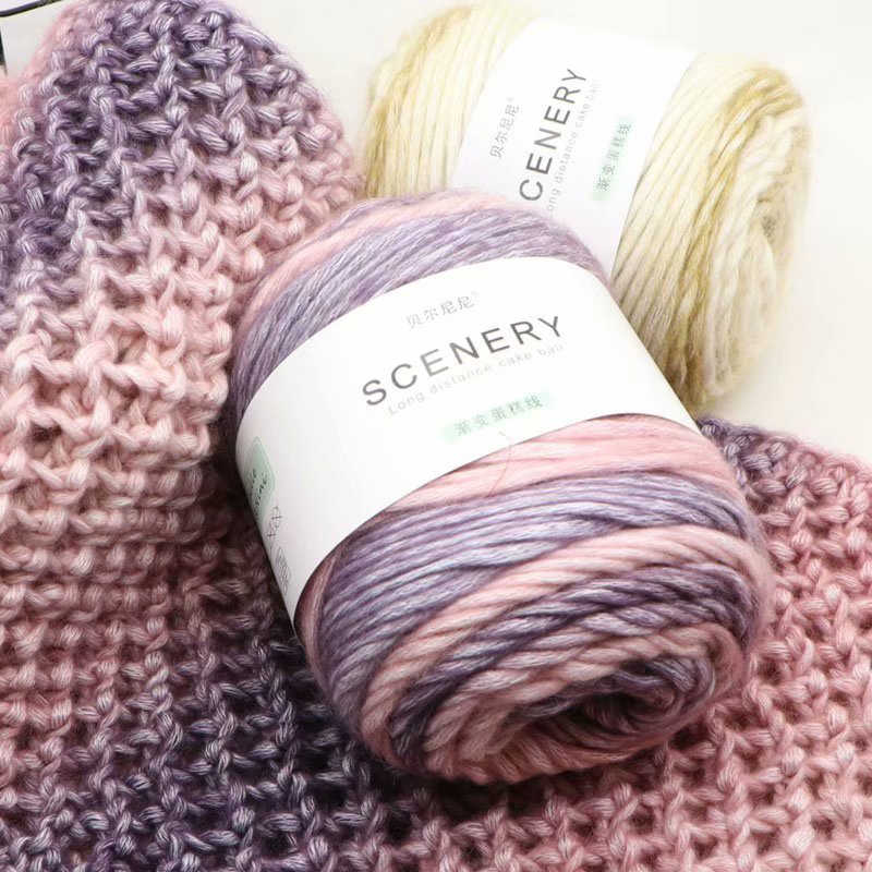 merino extra fine Cassiopeia 133 Ombre Yarn Cake Gradient yarn cake 100/% wool Gradient Yarn