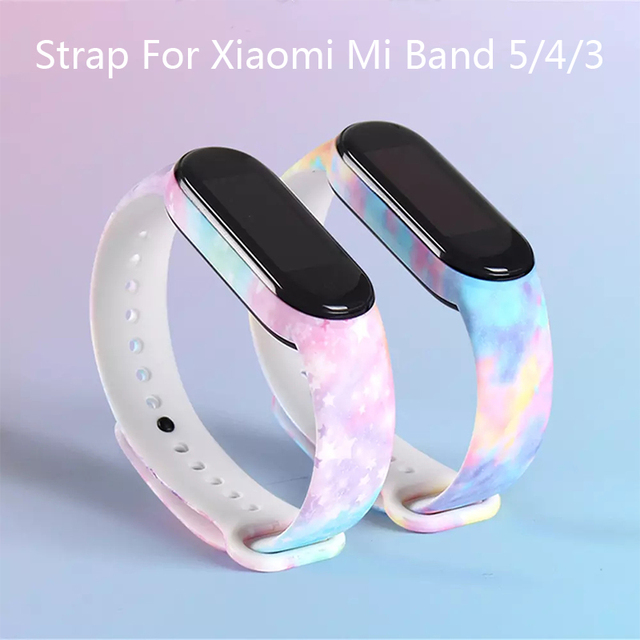 Colors Strap For Xiaomi Band 6 5 4 3 Sport Strap Wristband Replacement TPU Cartoon Strap MiBand 6 5 band 4 for xiaomi Mi Band 6 1
