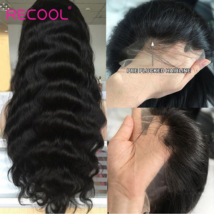 Image 3 - Recool HD Lace Frontal Wig 30 Inch Body Wave Lace Front Human Hair Wigs 13x6 Lace Front Wig 250 Density Hd Transparent Lace