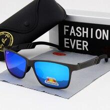 Gafas de sol polarizadas con protección UV400 para hombre, lentes clásicas de marca, adecuadas para conducir, de diseñador, con espejo, para hombre