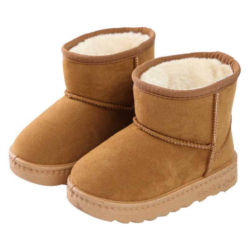 Kids Girls Boys Winter Ski Snow Ankle Boots Fur Lined Waterproof Shoes Fashion