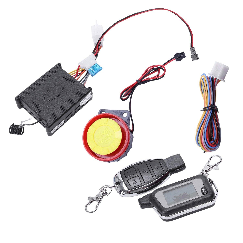 12V мотоциклов Видимый охранной сигнализацией двунаправленного действия 433 МГц сигнализации