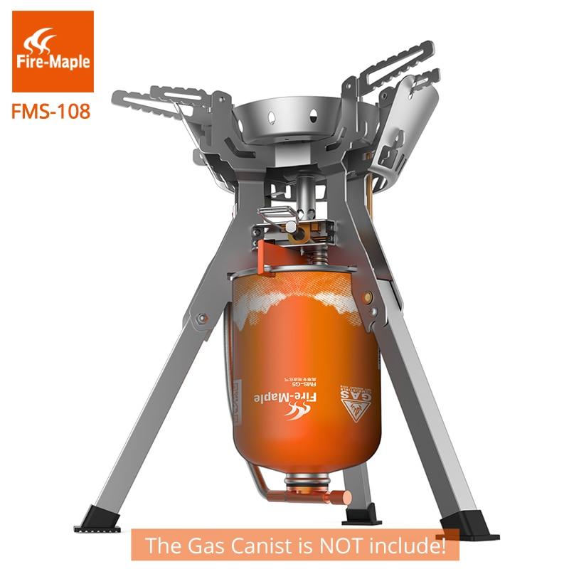 Fogo de bordo fogão a gás acampamento ao ar livre 4000 w poderoso portátil queimadores a gás ao ar livre fogões aço inoxidável FMS-108