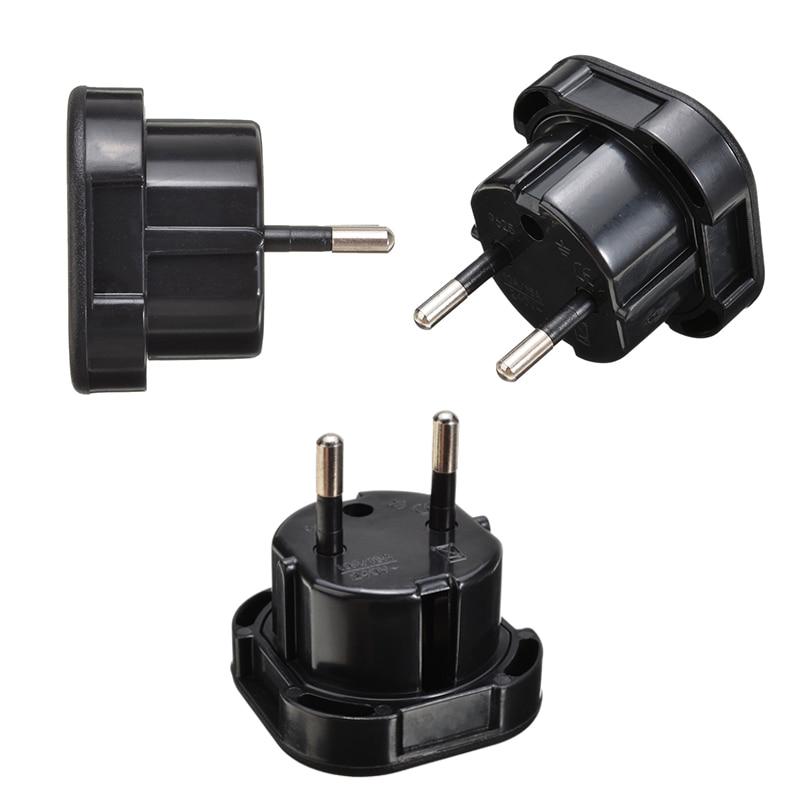 1pc Universal Travel UK To EU Adapter Socket High Quality Black Plug Adapter 10A/16A 240V Onsale