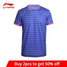 Li-Ning Men's Badminton Shirts AT DRY Breathable Regular Fit Sports T-Shirts LiNing li ning Tee AAYM143 MTS2646