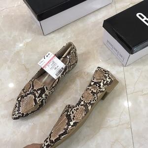 Image 4 - Womens flat Shoes autumn 2019 New Fashion Serpentine Flat soled Single Shoes Large Size Womens Shoes 41