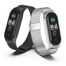 Watchbands mi band 5 Suitable for Xiaomi bracelet 3/4/5/6 strap 04 line 304 stainless steel metal wristband