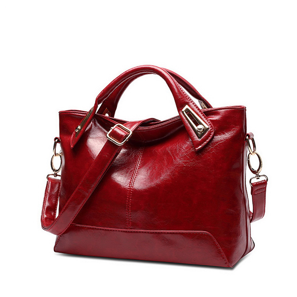 Oil Wax Leather Luxury Handbags Women Bags Designer Women's Shoulder Bag WOMEN's Handbags Famous Brand Woman Bags Luxury Tote