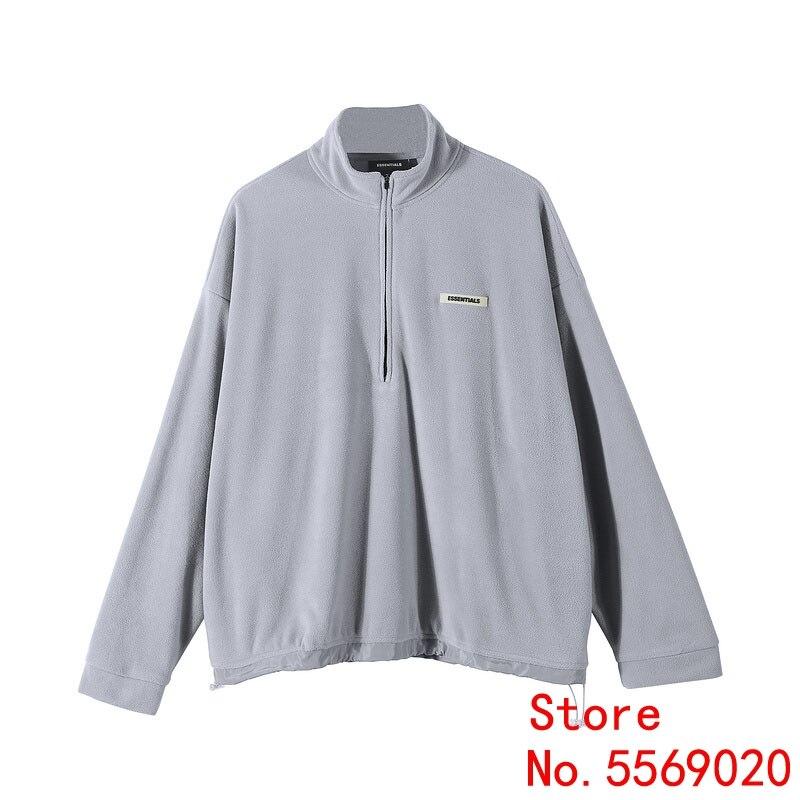 Sureme 2020ss Essentials FOG Polar Fleece Half Zipper Pullovers Sweatshirts Men Women Winter Warm FG Hoodie Men Tracksuit