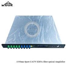 CATV EDFA Волоконно-оптический усилитель 1310/1490/1550 WDM 1550nm 1U/80 W 4port* 19dbm sc/apc, sc/upc оптический адаптер высокой мощности волоконно-оптический усилитель