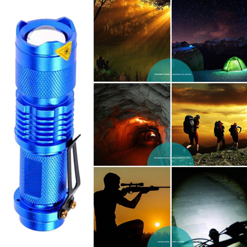 Bicycle Headlight LED Flashlight Aluminum Alloy Rubber Metal Adjustable Handlebar 360 Degrees Focus Bicycle Holder