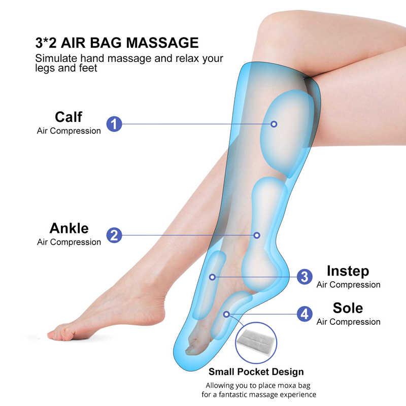 KLASVSA Bein Massager Luft Kompression Durchblutung Fuß und Kalb Massager mit Handheld Controller 2 Modi 3 Intensitäten